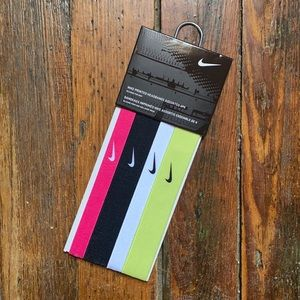 Nike Printed Headbands Assorted 4 Pack - Silicone